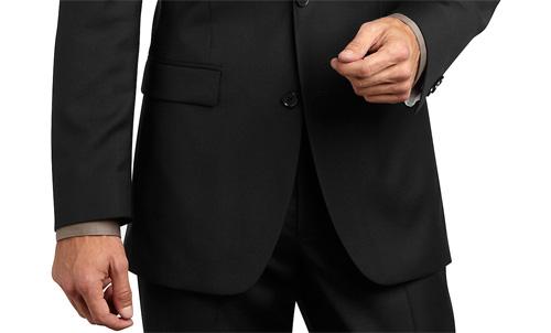 ความยาวของเสื้อสูทควรยาวมากพอที่จะปกปิดซิปและกระดุมกางเกง |ร้านสูท พพร บริการตัดสูท ชุดสูท