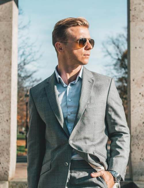 Light Grey Men's Suit |ร้านสูท พพร บริการตัดสูท ชุดสูท