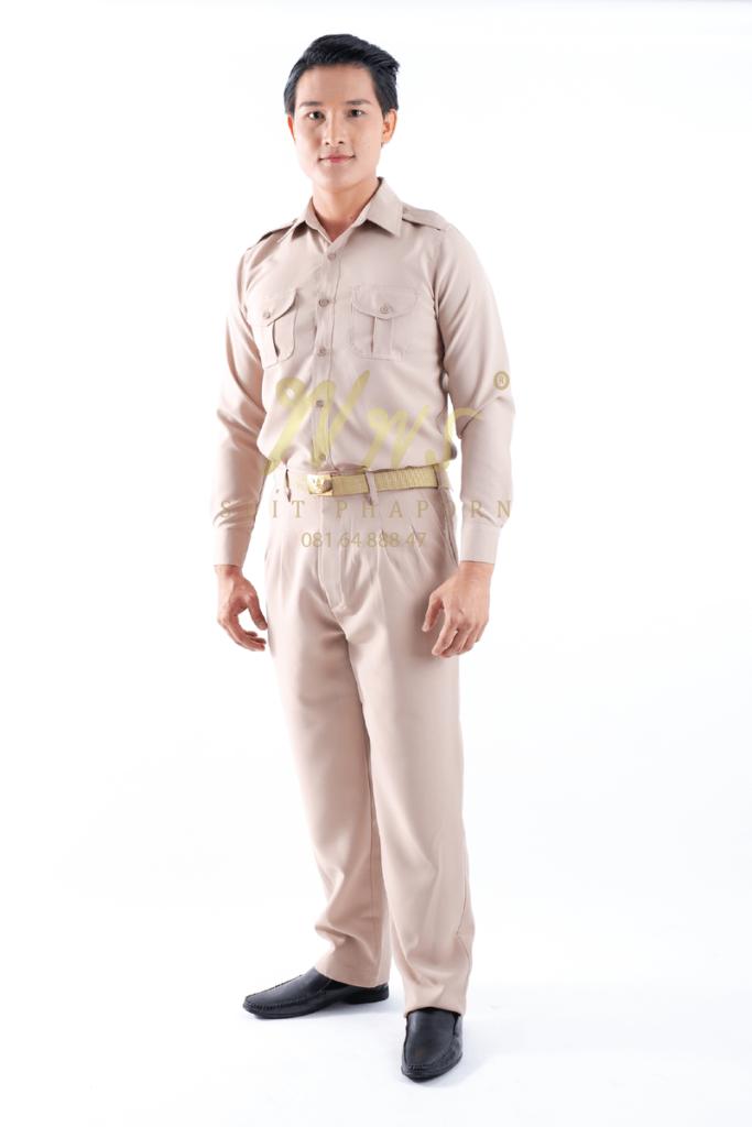 กางเกงสีกากี(มีจีบหน้า) | ร้านสูท พพร บริการตัดสูท ชุดสูท เสื้อเชิ้ต ชุดปกติขาว ครบวงจร