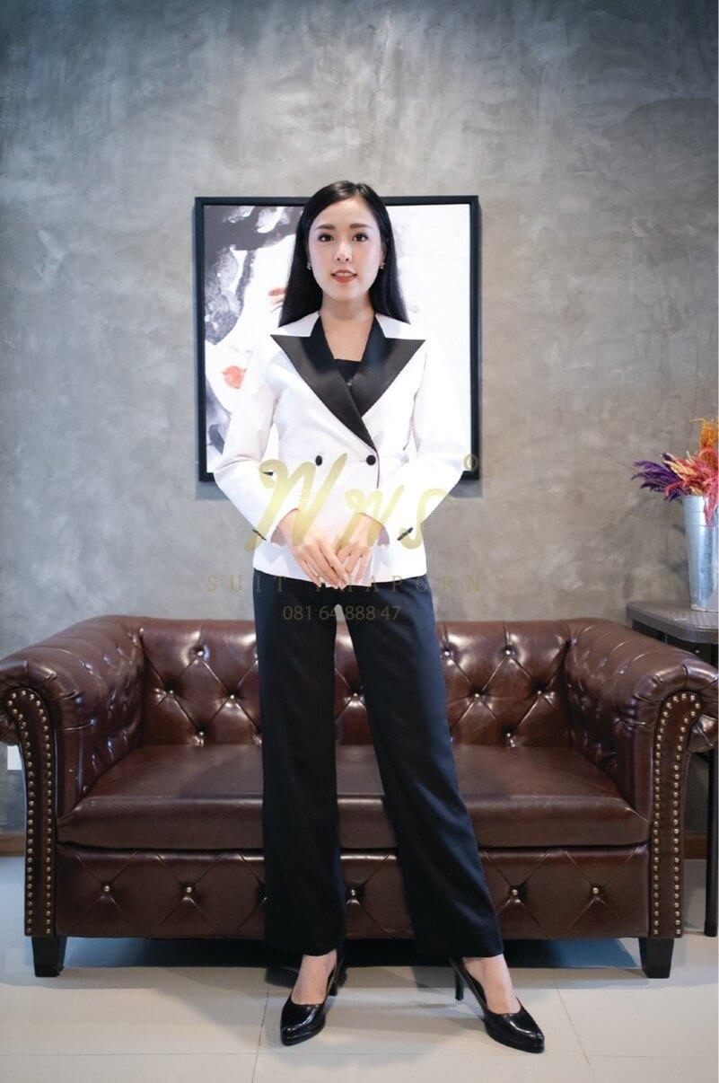 สูทแฟชั่นผู้หญิง | ร้านสูท พพร บริการตัดสูท ชุดสูท เสื้อเชิ้ต ชุดปกติขาว ครบวงจร